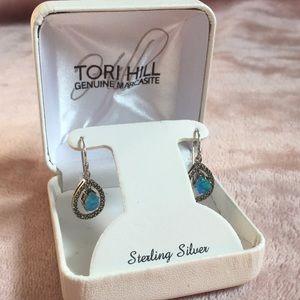 Blue Sterling Silver Earrings